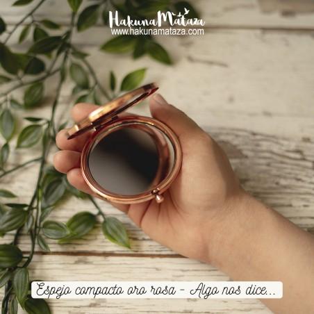 Espejo compacto oro rosa - Algo nos dice...