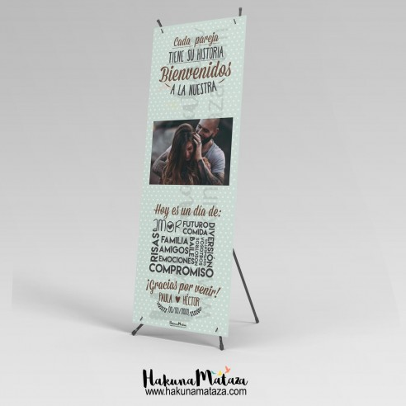 Banner con foto - Cada pareja tiene su historia